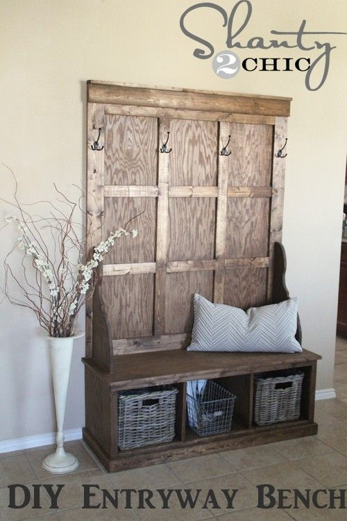 entryway bench minus the wall hooks