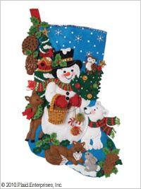 Bucilla ® Seasonal - Felt - Stocking Kits - Woodland Snowman