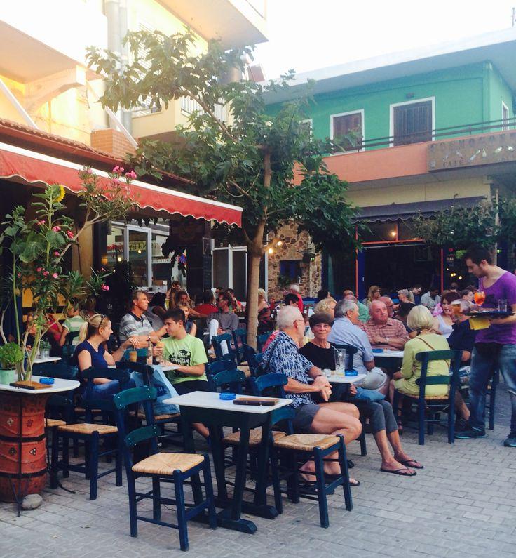 Outdoors Cafe in Paleochora, Crete Island, Greece