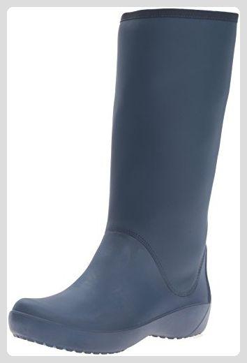 crocs Damen Rainfloetallbt Gummistiefel, Blau (Navy), 39-40 EU - Stiefel für frauen (*Partner-Link)