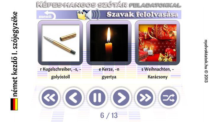 Német kezdő I. szójegyzéke - screenshot