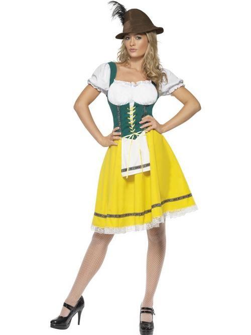 Adult 8-10 Oktoberfest Bavarian Lederhosen Beer Girl Fancy Dress Costume Ladies Buy Online
