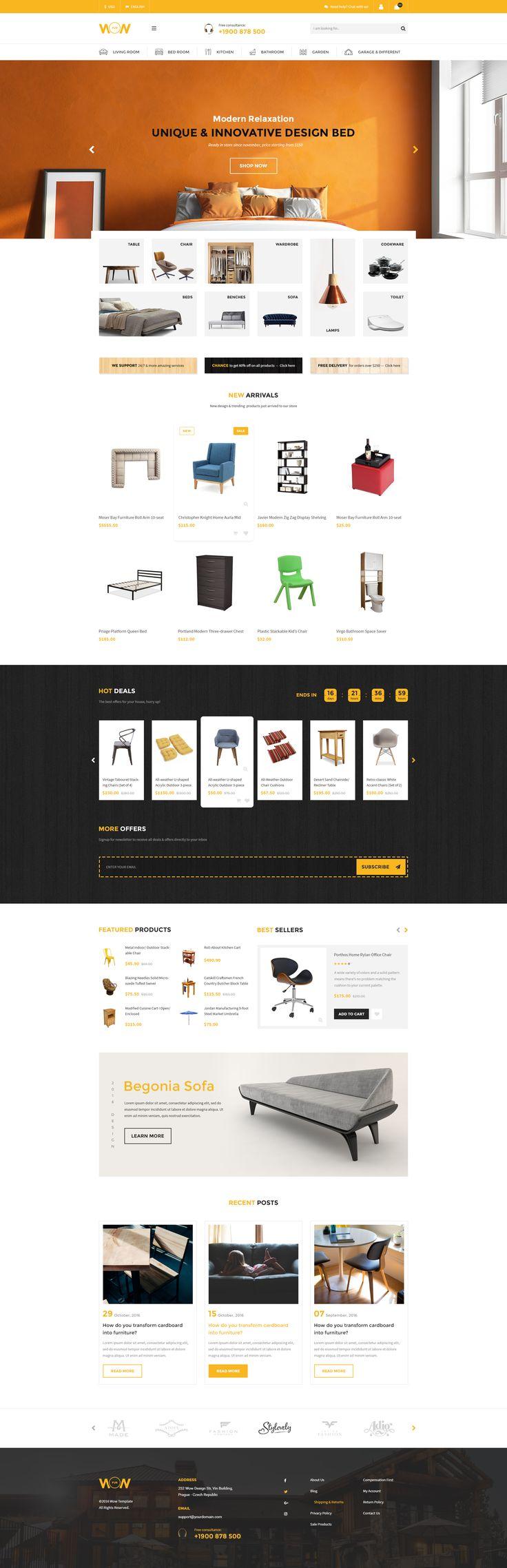 Wow! Multi-purpose E-commerce Template Furniture Home02
