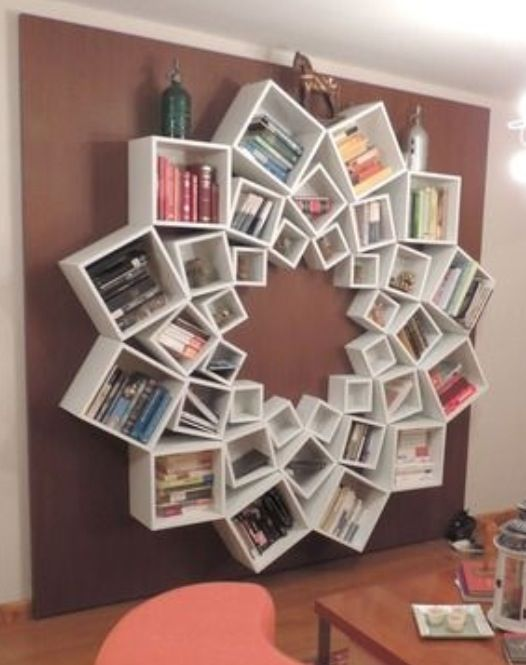Amazing diy bookcase from Ikea boxes! via diyhomedesignpins.com