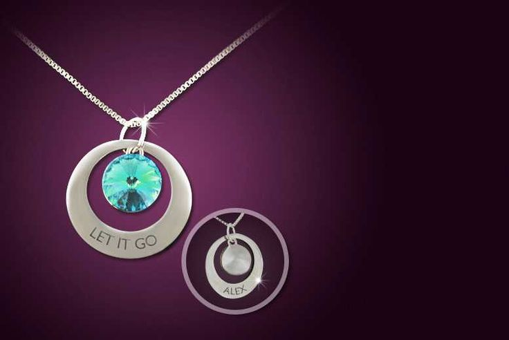 Personalised Frozen-Inspired 'Let it Go' Necklace made with Swarovski Elements