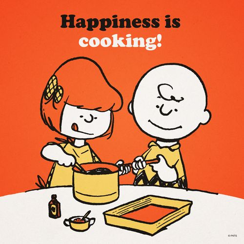 peanuts cooking kids Charlie Brown thanksgiving Charles Schultz ...