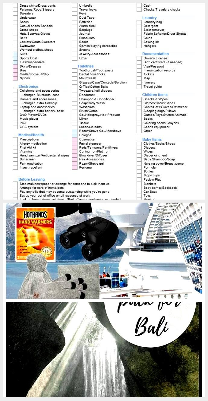Download The Vacation Packing List From Vertex42 Com