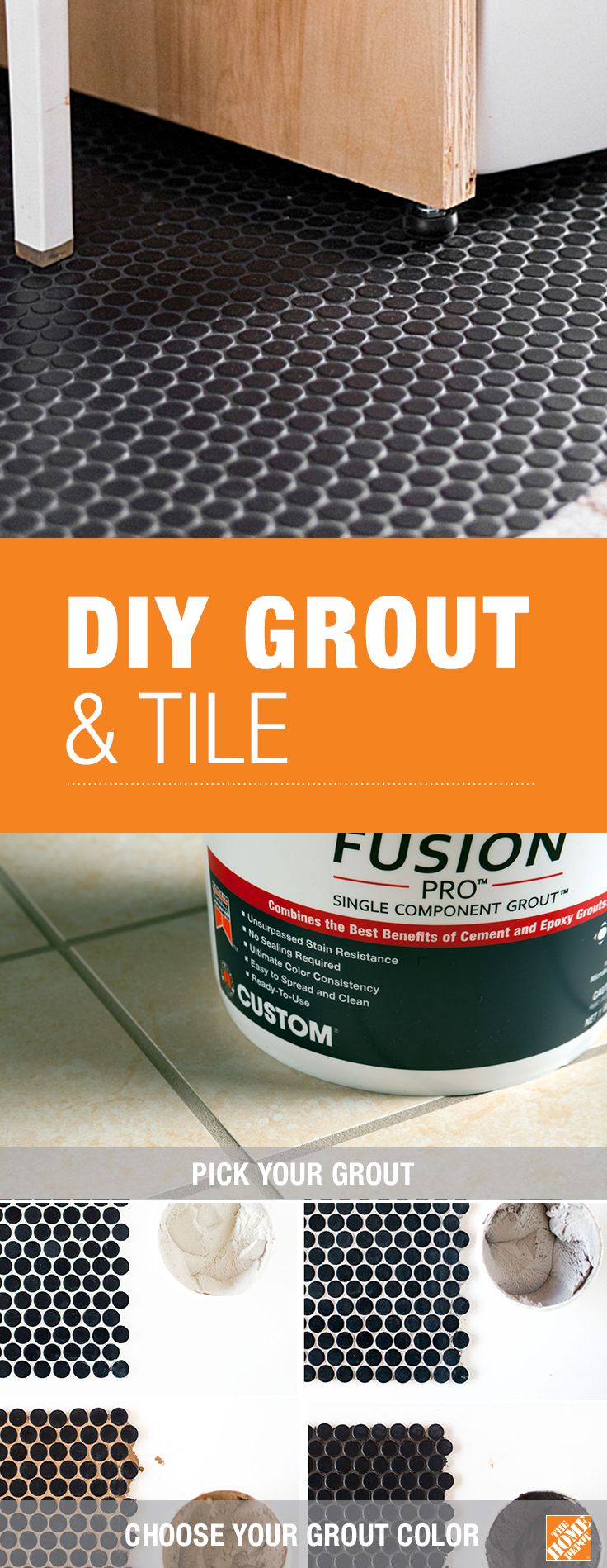 outlet store online shopping college gear Customize the look of your next DIY tile project with stain proof Fusion Pro