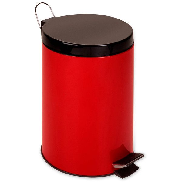 Honey-Can-Do 12-Liter Red Step Trash Can (44 CAD) ❤ liked on Polyvore featuring home, home decor, small item storage, trash bucket, red home accessories, trash can, trash bin and red home decor