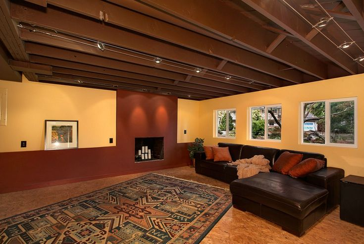 Unfinished ceiling in basement | Home Design Inspiration ...