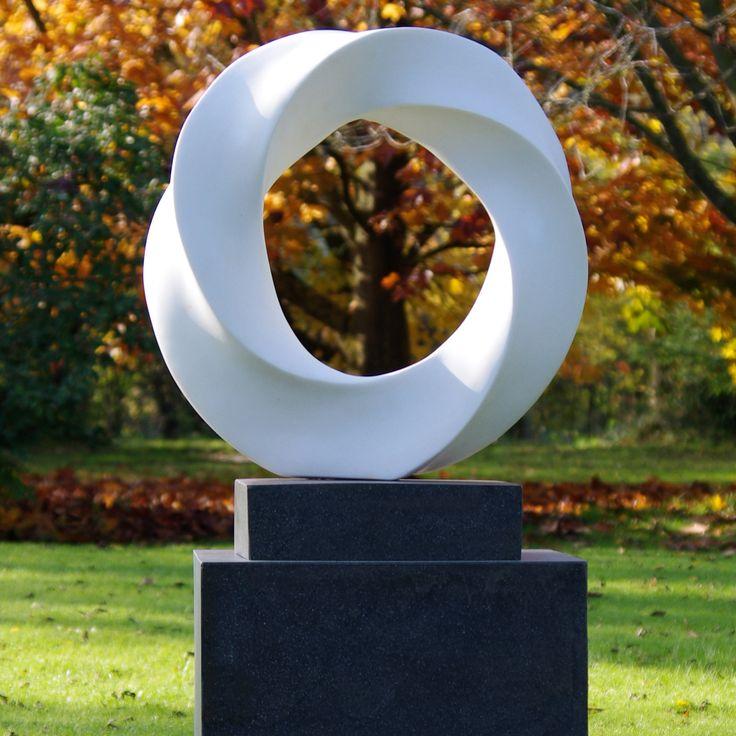 Halo Contemporary Garden Sculpture on Pedestal. Buy now at http://www.statuesandsculptures.co.uk/halo-contemporary-garden-sculpture-on-pedestal