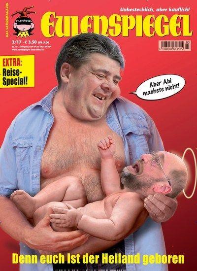 Denn euch ist der Heiland geboren...  Jetzt in EULENSPIEGEL :  #SPD #Schulz #bundestagswahl2017 #Kanzlerkandidatur