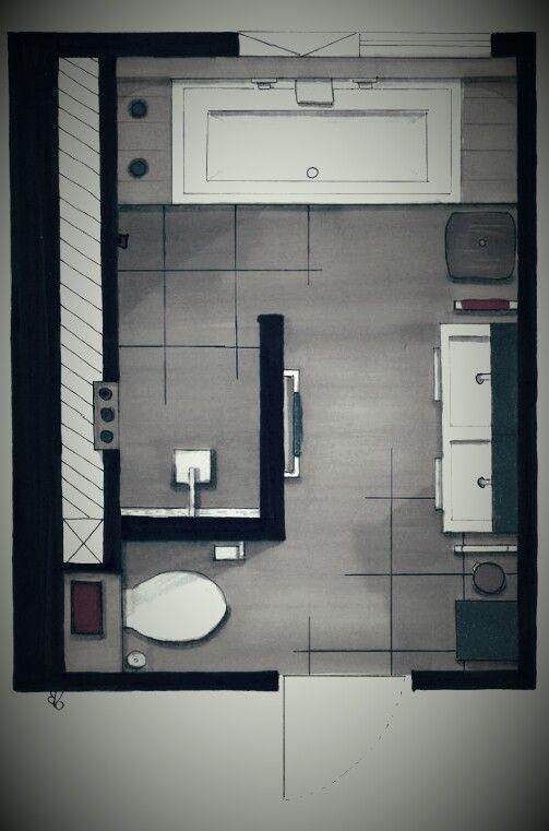 Ein Grundriss aus dem Badezimmer – #Badezimmer #fl…