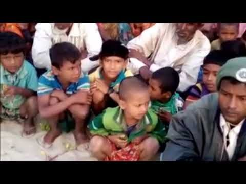 Rohingyas from Rathedaung have crossed over to Maungdaw and stranded alo...