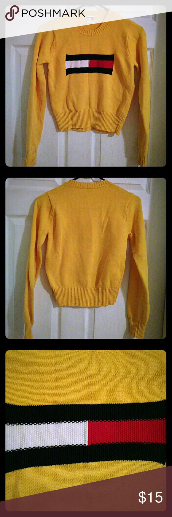 Tommy Hilfiger petite sweater This one particular sweater is more like an XS for an adult female, and M for girls aged between 7-10. In great condition! Worn once! Like new! Tommy Hilfiger Sweaters