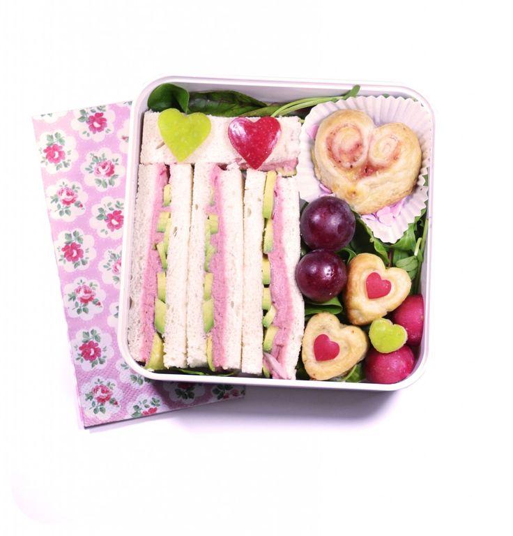 ♡♥︎ Bento Sandwich Saint Valentin ♥︎♡   Mon Bento Végétarien