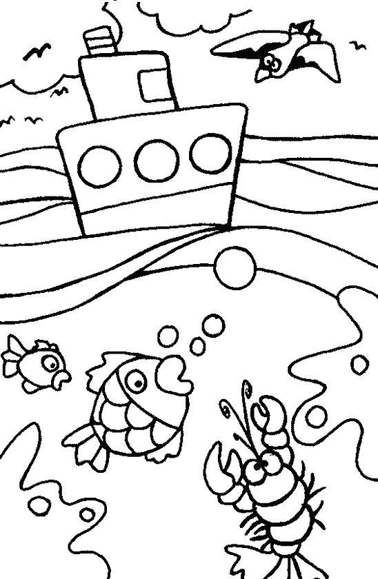 Kolorowanki: lato nad morzem do pobrania i wydrukowania, dzla dzieci
