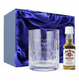Crystal Glass & Bourbon Whisky Miniature Set | Tumblers | Exclusively Personal