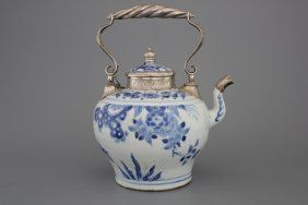 A Silver-mounted Transitional Teapot And Cover, 17th C.