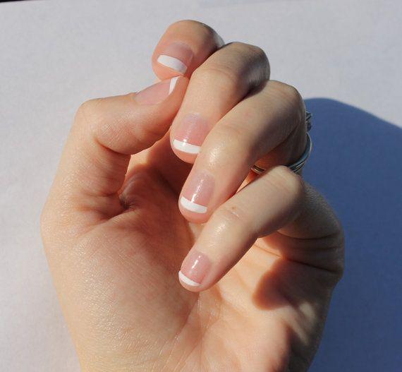 Francese bianco trasparente Nail Wraps  unghie più adatta