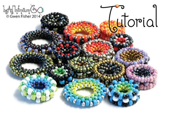 TUTORIAL Nuts and Washers: 4 Easy Beaded Beads Made with Peyote Stitch