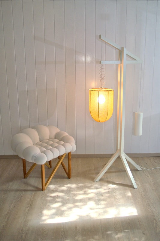 MORGON and Snöbär , lamp and chair designed by Yonder Magnetik