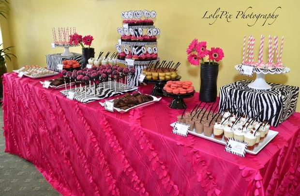Hostess with the Mostess® - Zebra and Hot Pink Baby Shower