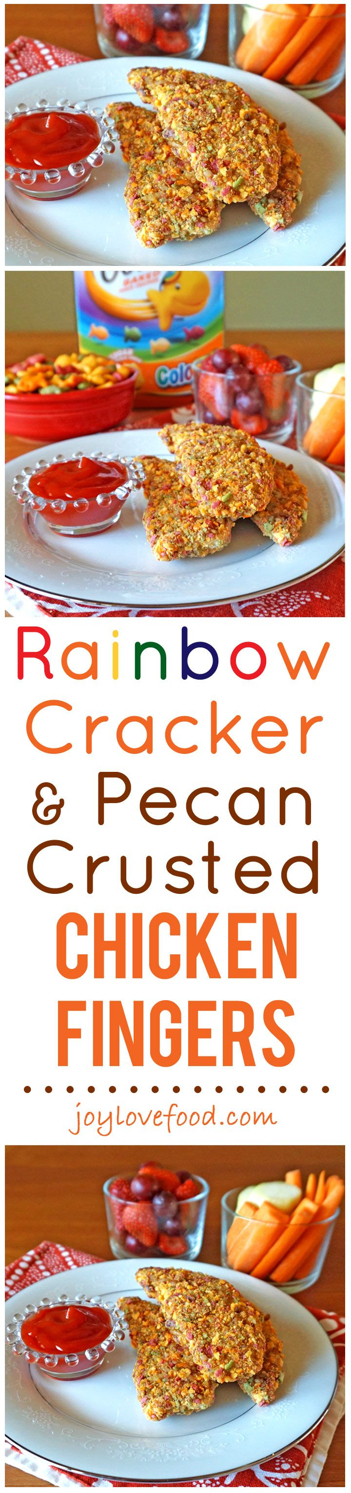 Rainbow Cracker and Pecan Crusted Chicken Fingers | Recipe ...