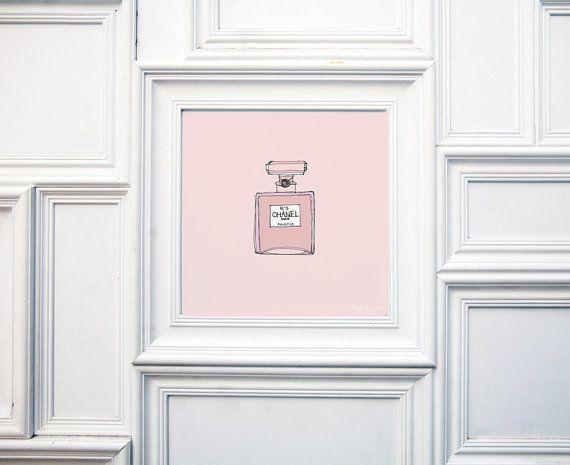 Shabby chic perfume illustration by madebymeITALY on Etsy, €15.00