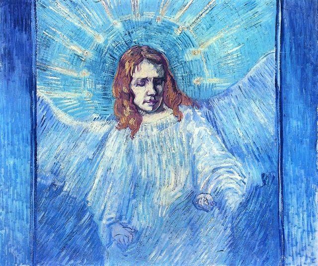 Head of an Angel, after Rembrandt, Vincent van Gogh. 1889.