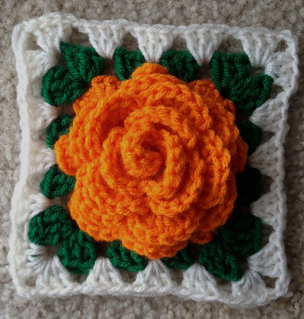 Adam's Rose Granny Square by Maria Helsley