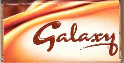 Galaxy Chocolate is my favorite standard British chocolate bar. It's comparable to an American Dove bar.