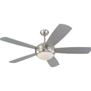 """Monte Carlo  Discus Ceiling Fan, 52"""", Brushed Steel $142 on Amazon"""