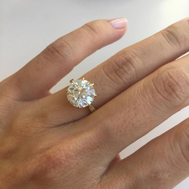 Details - 3.86cts on a size 4.25 band, 10.2-ish mm, transitional cut, K VS2 in 18kt yellow gold. Thanks to @jewelsbygrace for sourcing the stone and thanks to @erikakwinters for creating the perfect setting!