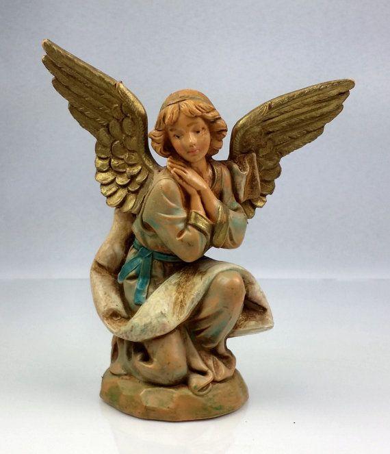 Fontanini Nativity Kneeling Angel 5 In by WeStartedWithAMouse