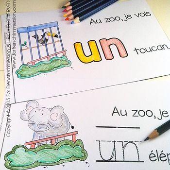 For French Immersion Emergent Reader - Je vois UN… (ours, lion, éléphant, toucan, flamant) - en français