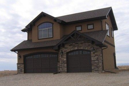 House paint exterior dark front door and craftsman homes on pinterest - Exterior house colors brown ...