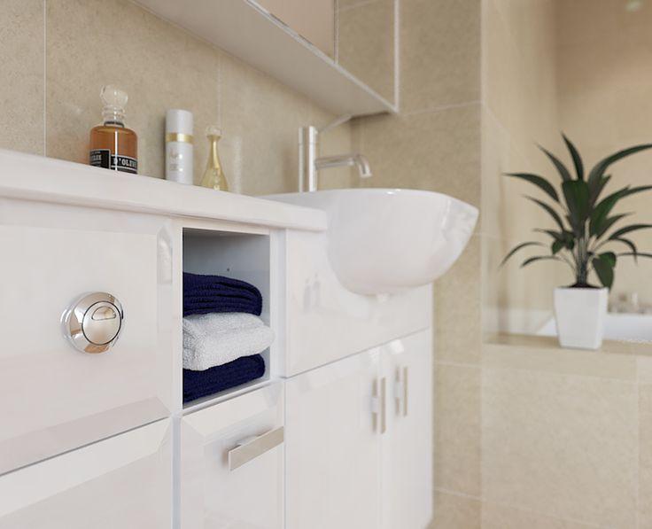 Modena - White Gloss Modena is a fantastic option for slimline furniture.