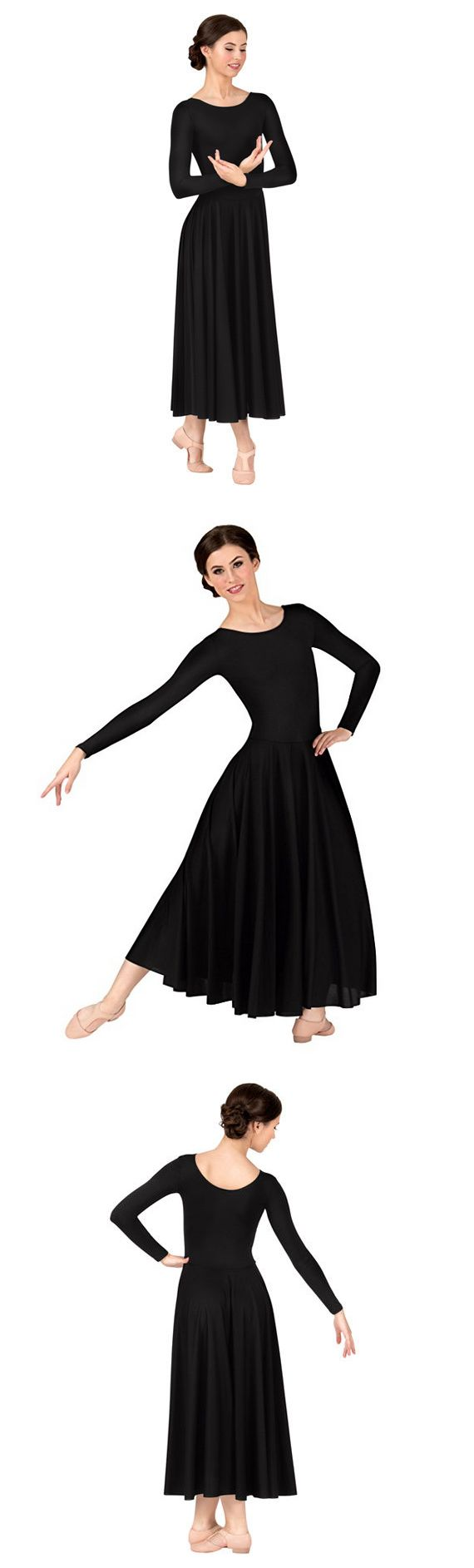 Other Adult Dancewear 112428: Body Wrappers S Small Black Long Dress Ballet Adult Womens Worship Dance 512 -> BUY IT NOW ONLY: $34.99 on eBay!