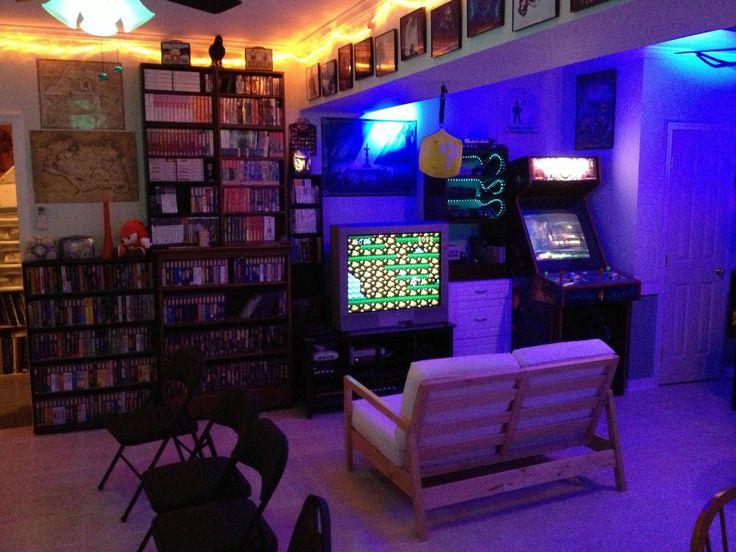 my game room | My friend's amazing gamer house . - Imgur