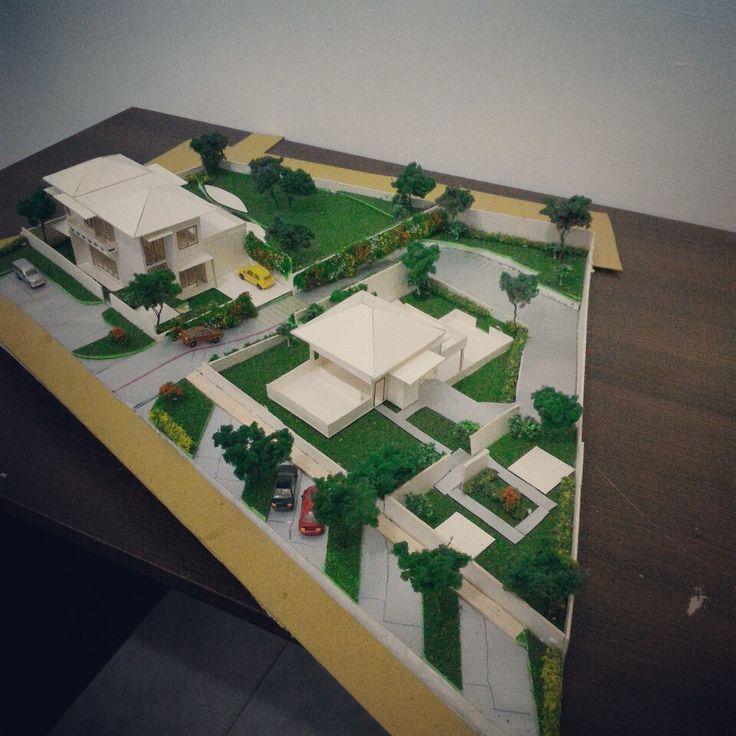 Maket Studio Arsitektur 3. Rumah tinggal + rumah makan