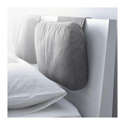 IKEA - SKOGN, クッション, ロールストンガ グレー, , ベッドのヘッドボード部分に取り付けてお使いください。クッションにもたれながらテレビや読書が快適に楽しめますカバーは取り外して洗濯機で洗えます ¥ 5,499