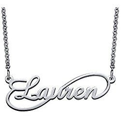 Infinity Style Name Necklace in Sterling Silver - Personalized & Custom Made great Valentine's day gift