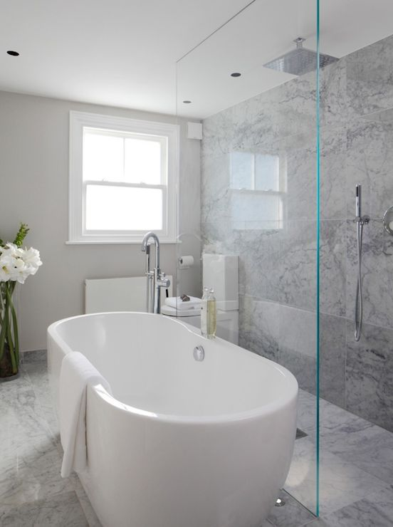 Laura Hammett Bathrooms Marble Bathroom Open Shower Open Shower Ideas Rain