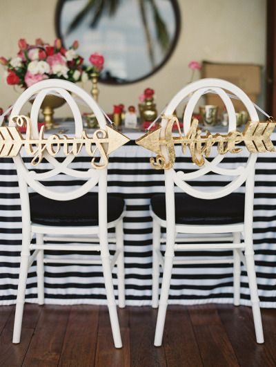 Chair decor: http://www.stylemepretty.com/destination-weddings/2014/08/06/intimate-cabo-san-lucas-beach-wedding-at-villa-captiva-in-punta-bella/ | Photography: Lane Dittoe - http://lanedittoe.com/