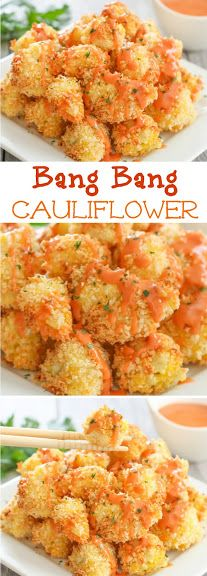 Bang Bang Cauliflower. This sauce is addicting and easy!