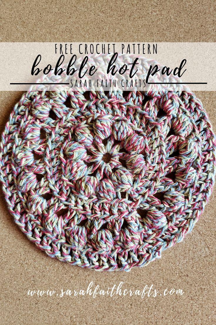 Crochet hot pad pattern round hot pad housewarming Pot coaster t-shirt yarn pattern crochet pattern trivet pattern easy pattern