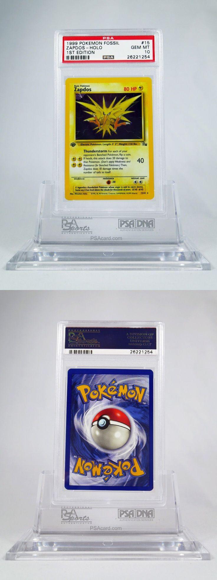 Pok mon Individual Cards 2611: Psa 10 Gem Mint 1St Edition Holo Zapdos Pokemon Fossil Set #15 62 -> BUY IT NOW ONLY: $224.99 on eBay!