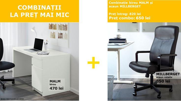 Ce este un birou fără un scaun confortabil? De acum e mai simplu să le cumperi pe amândouă, la un preț mai accesibil. Oferta este valabilă doar pentru cumpărăturile din magazin, în limita stocului disponibil, până pe 31.08.2018.