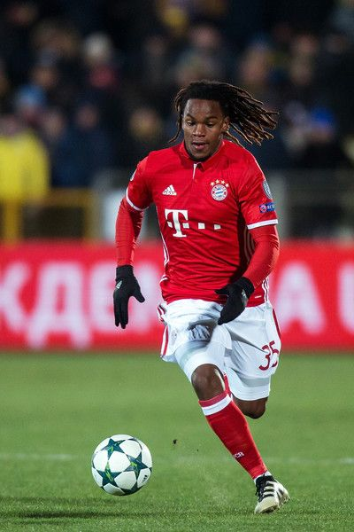 Renato Sanches #35 of FC Bayern Muenchen controls the ball during the UEFA Champions League match between FC Rostov and Bayern Muenchen at Olimp-2 on November 23, 2016 in Rostov-on-Don, Russia.